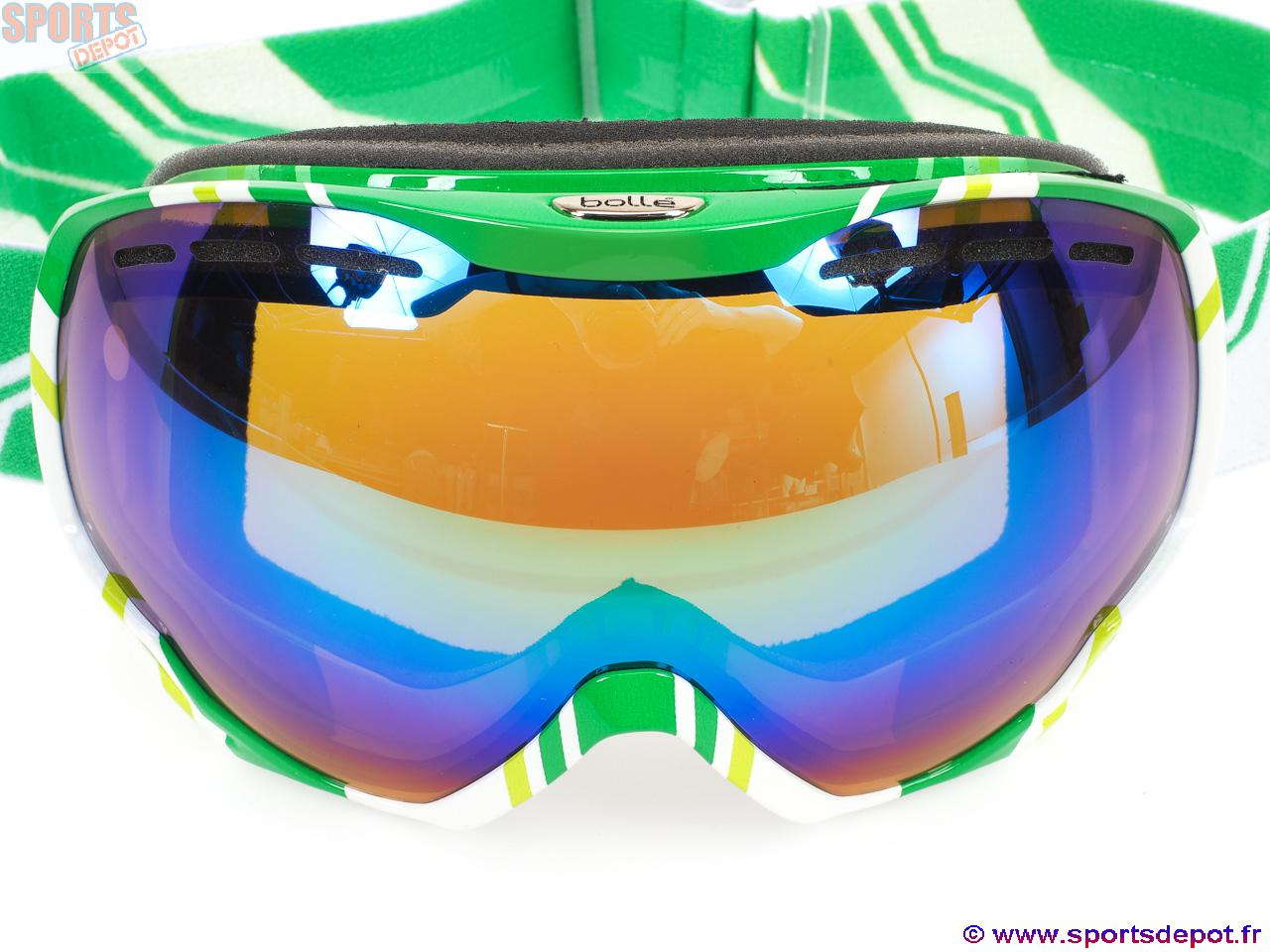 acheter masque de ski double cran bolle emperor vert cat s2 homme mixte comparer achat. Black Bedroom Furniture Sets. Home Design Ideas