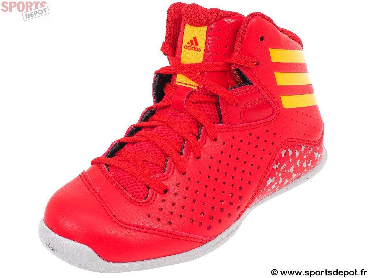 basket adidas junior rouge