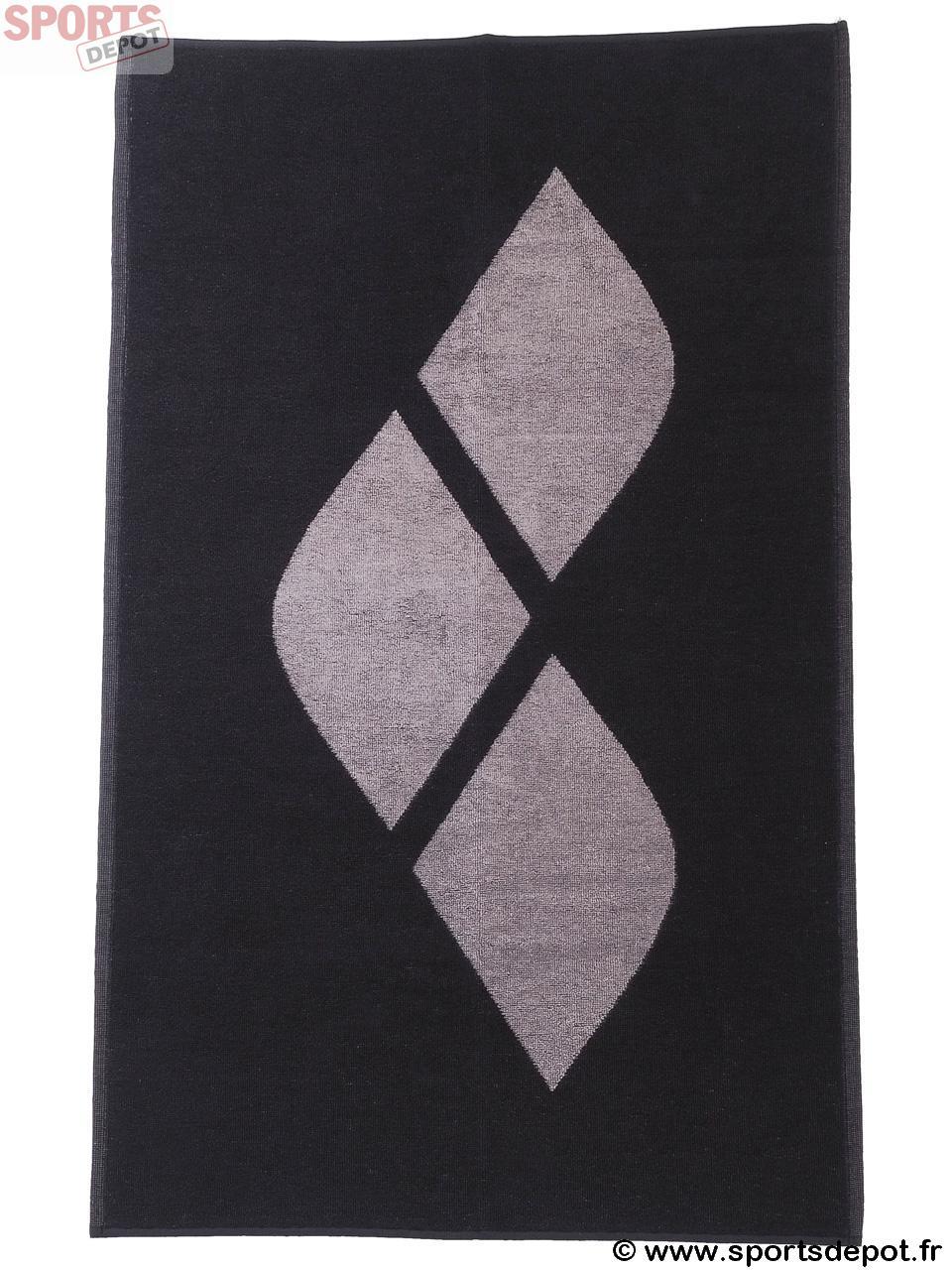 Acheter serviette de bain drap de plage arena hiccup noir for Serviette piscine arena