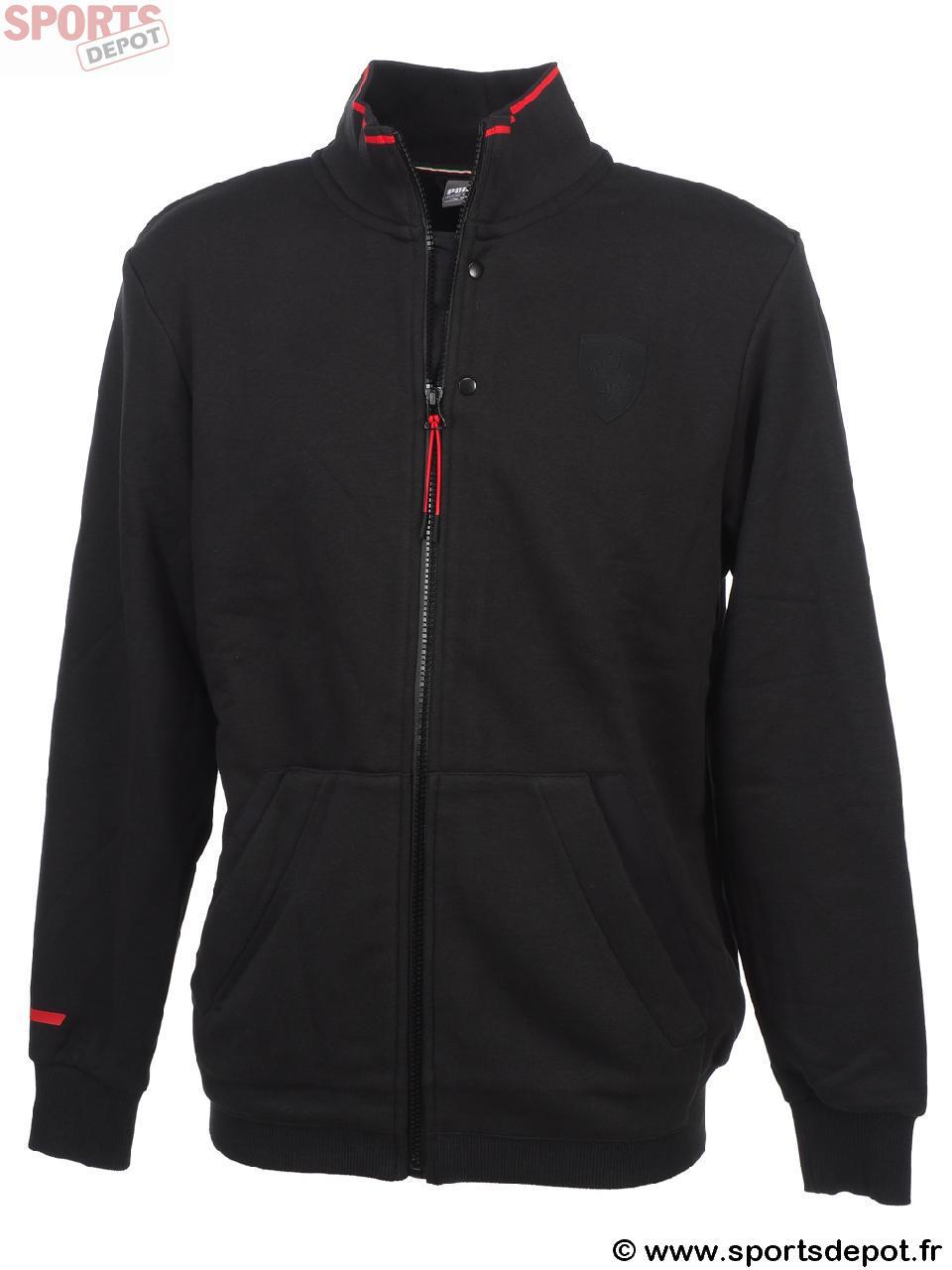 acheter vestes demie saison puma ferrari sweat jacket noir homme mixte comparer achat. Black Bedroom Furniture Sets. Home Design Ideas