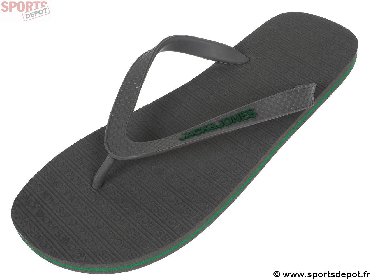 9698730276 Acheter Tongs claquettes JACK AND JONES Basic flip flop gray tong ...