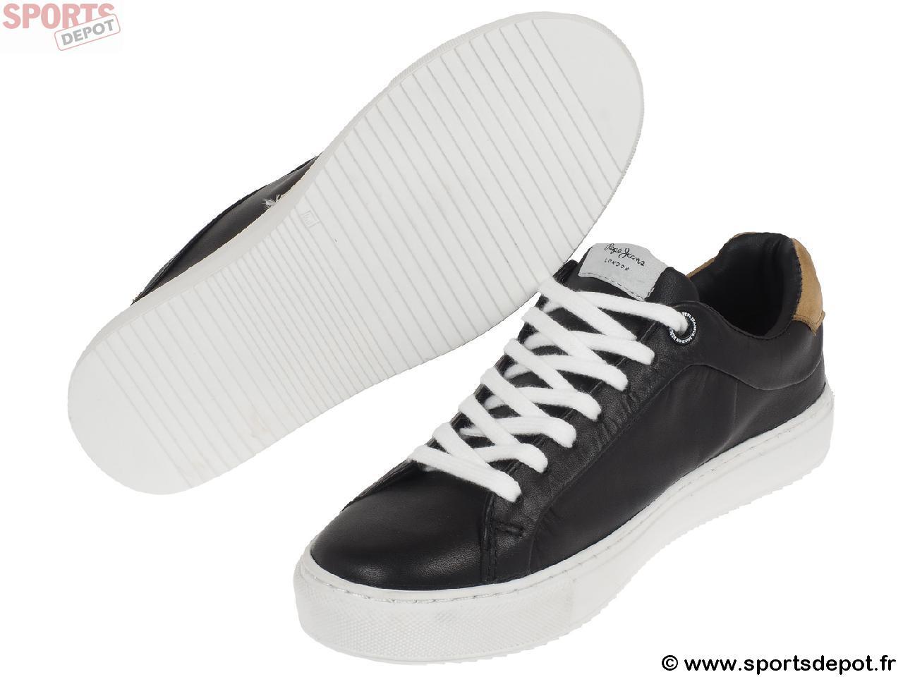 Chaussures Mode Ville Pepe Jeans Adams Black Lady Noir 58242 vNIBY5