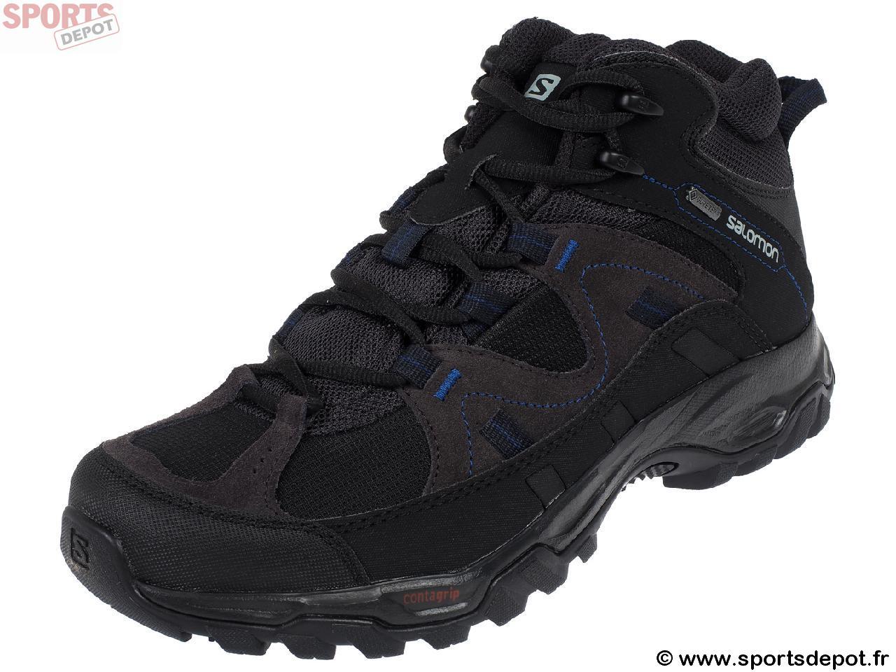af72d240c88 Acheter Chaussures marche randonnées SALOMON Meadow mid gtx noir ...