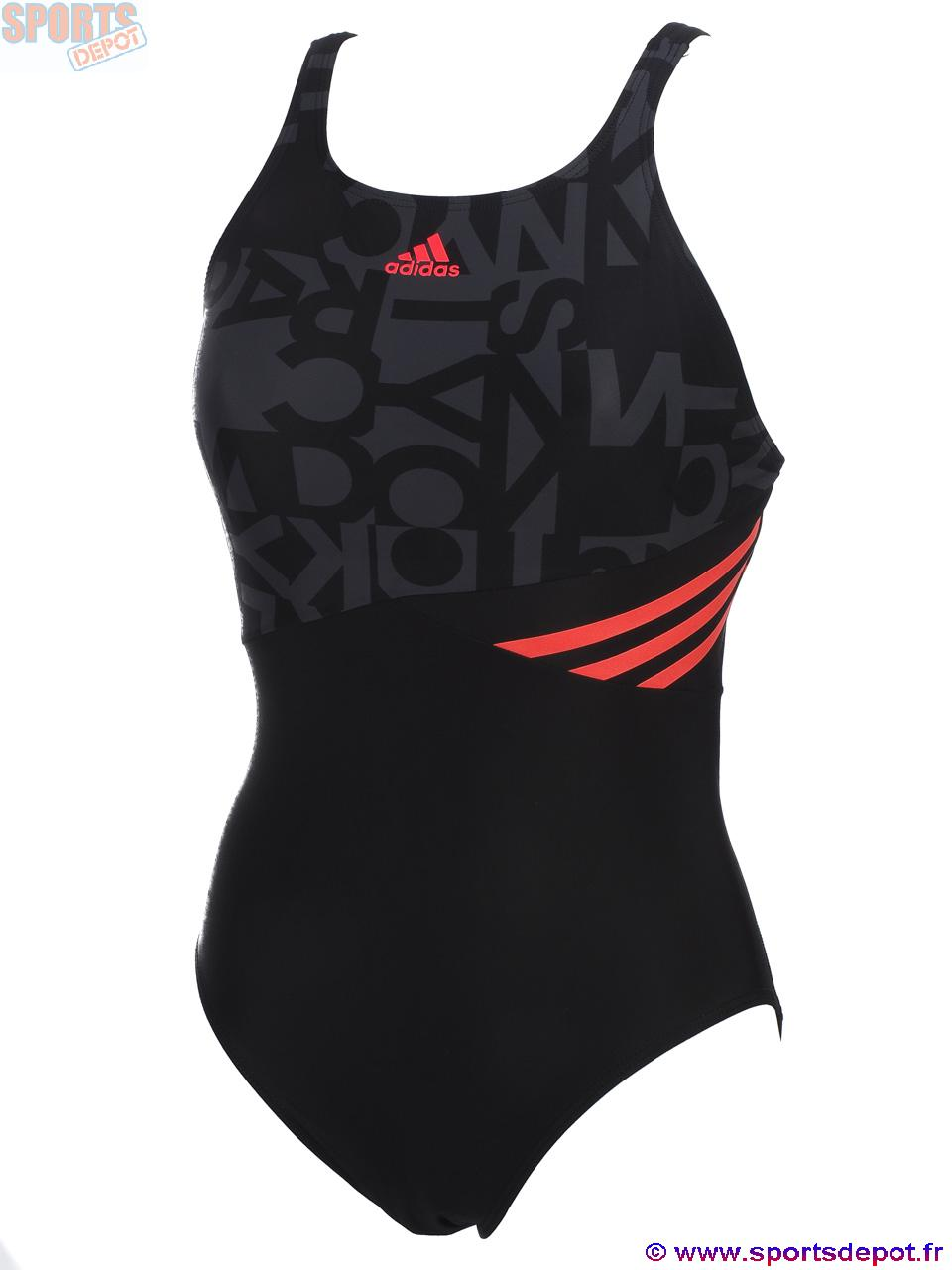 maillot bain adidas femme 1 piece maillot bain adidas. Black Bedroom Furniture Sets. Home Design Ideas