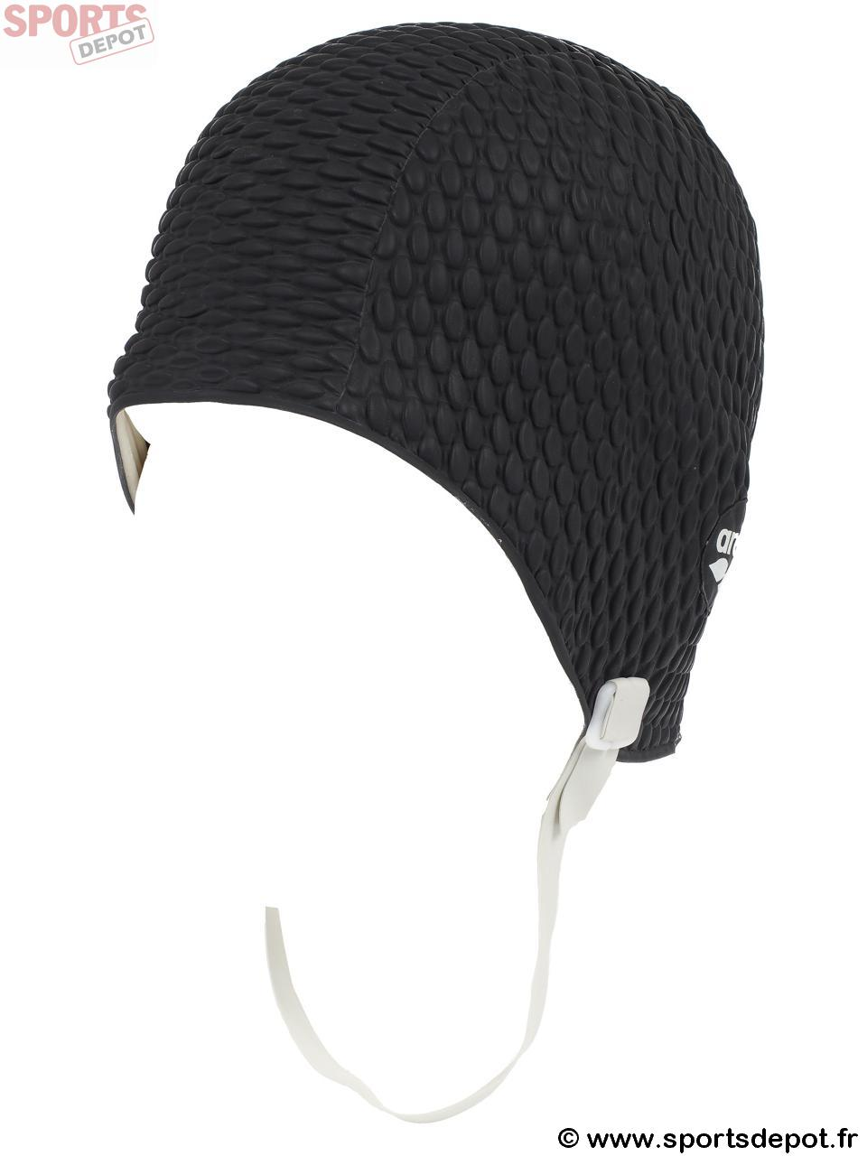 acheter bonnet de bain arena gaufre noir latex homme mixte comparer achat vente sur. Black Bedroom Furniture Sets. Home Design Ideas