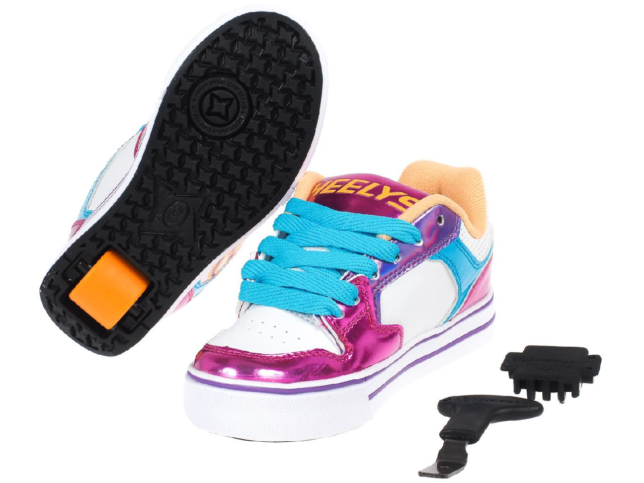 Shoes-to-Casters-Heelys-Motion-More-Fuchsia-White-Pink-11296-New thumbnail 5