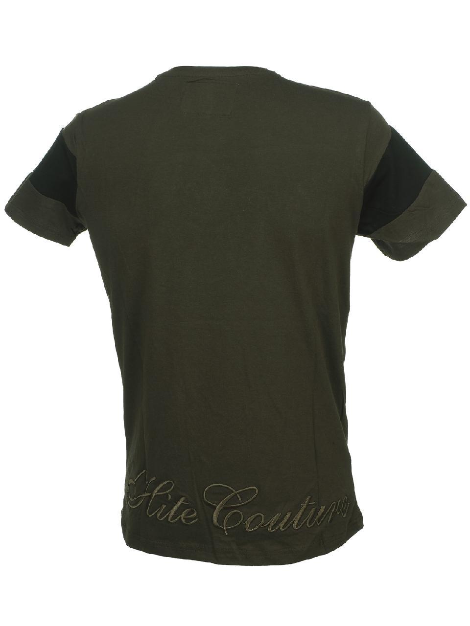 Short-Hite-Couture-Mixer-Kakiblack-Mc-Tee-Green-11537-New thumbnail 5