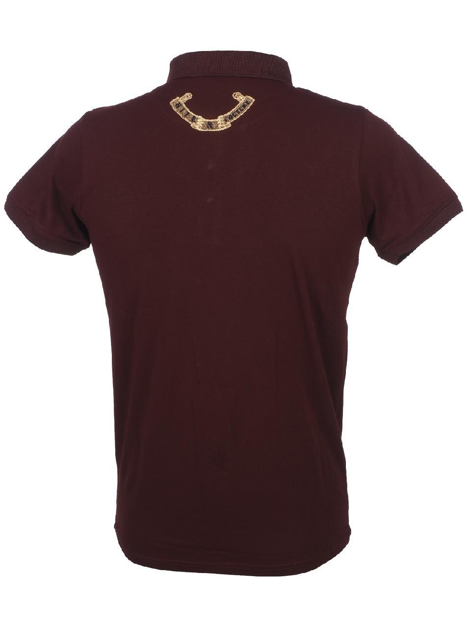 Short-Sleeve-Polo-Hite-Couture-Pamiler-Bordeaux-Mc-Polo-Red-11573-New thumbnail 5