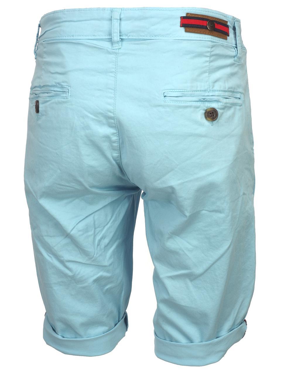 Bermuda-Shorts-Hite-Couture-Vobier-Sky-Bermuda-Chino-Blue-11597-New thumbnail 5
