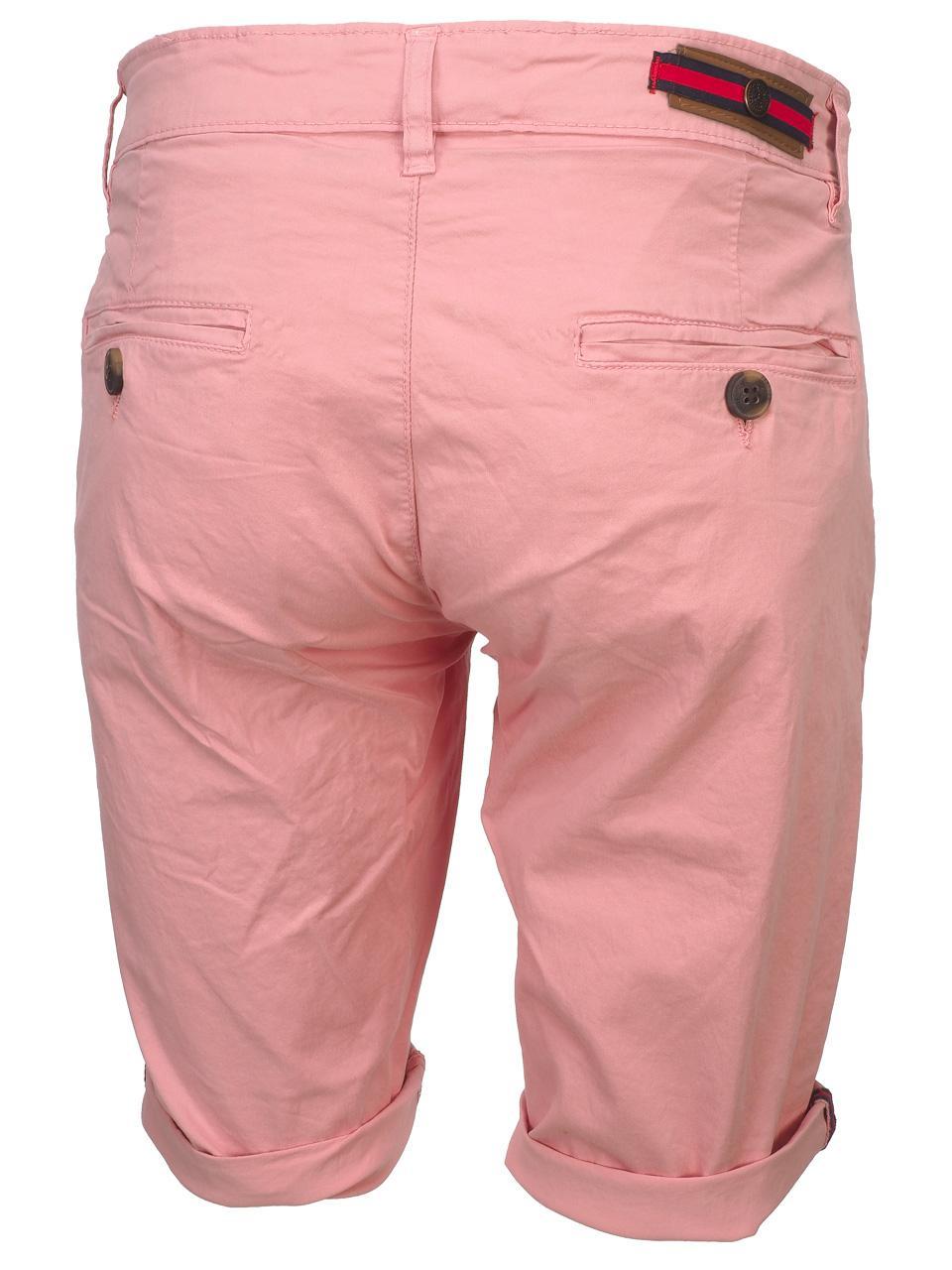 Bermuda-Shorts-Hite-Couture-Vobier-Rse-Bermuda-Chino-Pink-11606-New thumbnail 5