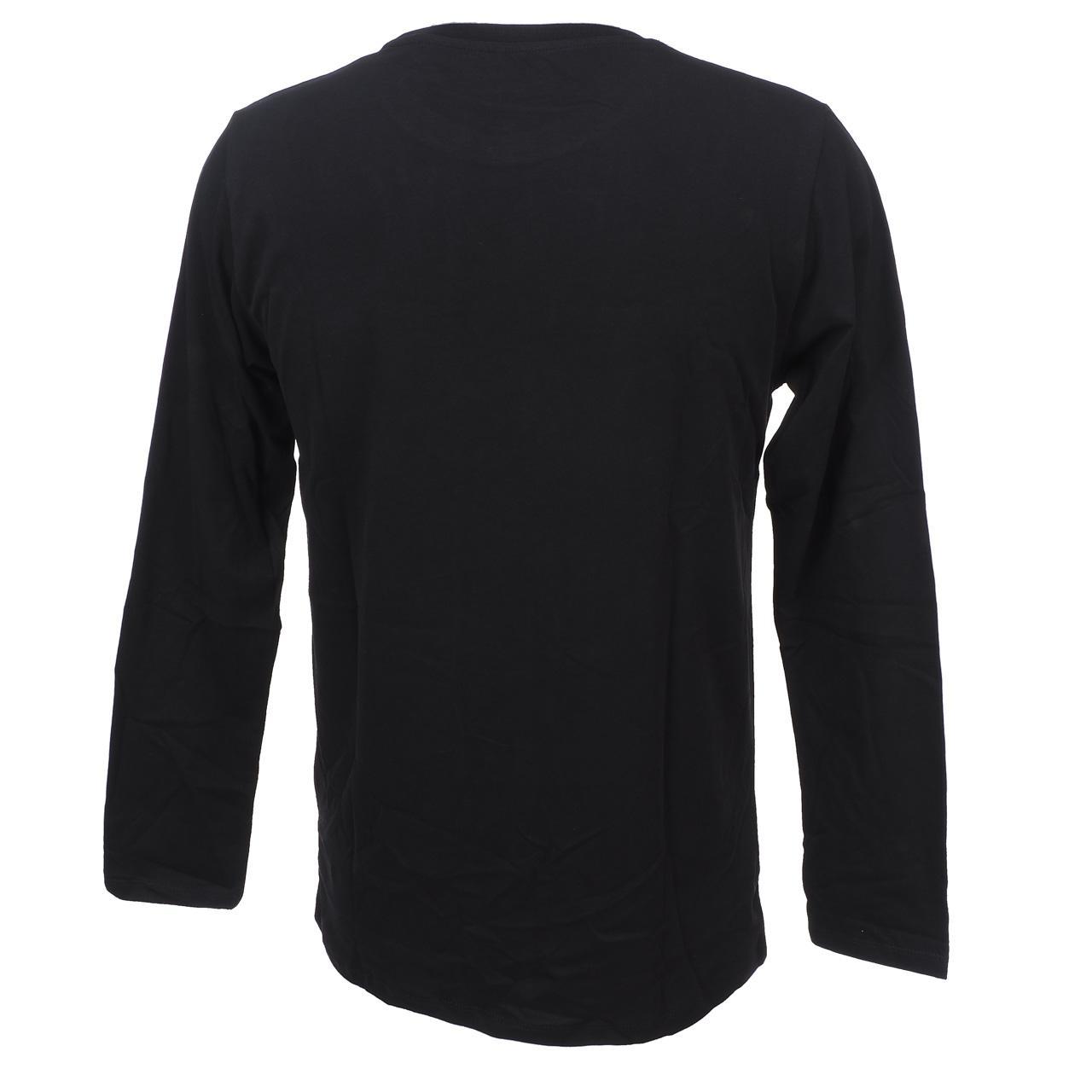 Tee-shirt-manches-longues-Pepe-jeans-Blake-black-ml-tee-jr-Noir-14082-Neuf miniature 4