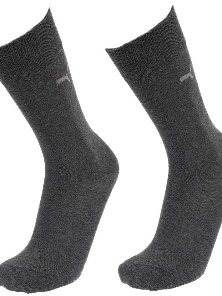 Socks-Puma-Classic-Anth-2-Pairs-Grey-14724-New thumbnail 5