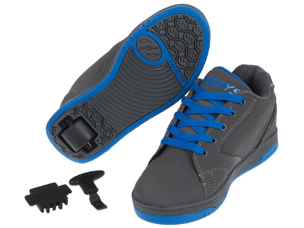 Shoes-to-Casters-Heelys-Propel-2-0-Grey-Royal-Grey-15616-New thumbnail 5