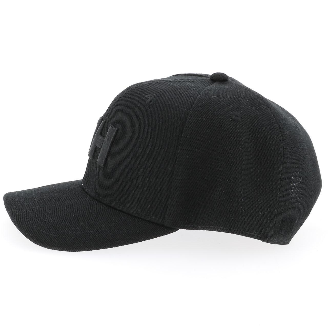 53e3fd0eef174 Casquette Helly hansen h.h. Hh brand cap black Noir 16282 - Neuf