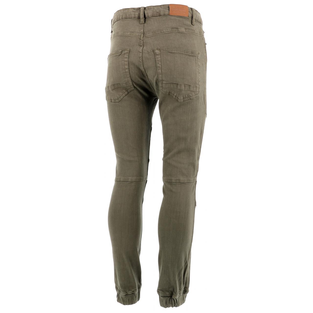 Jeans-Pants-Paname-brothers-Japa-Khaki-Jeans-Green-17196-New thumbnail 5