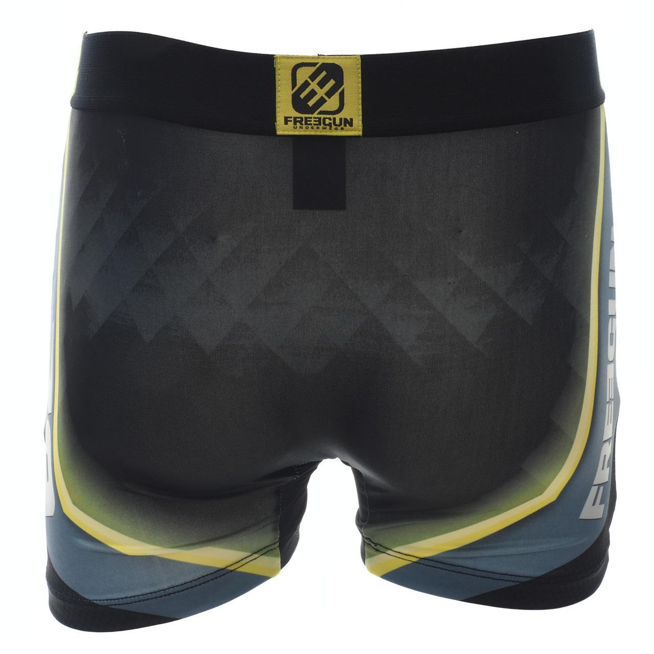 Underwear-Boxer-Freegun-Green-Black-Vrt-Black-Boxer-17919-New thumbnail 5