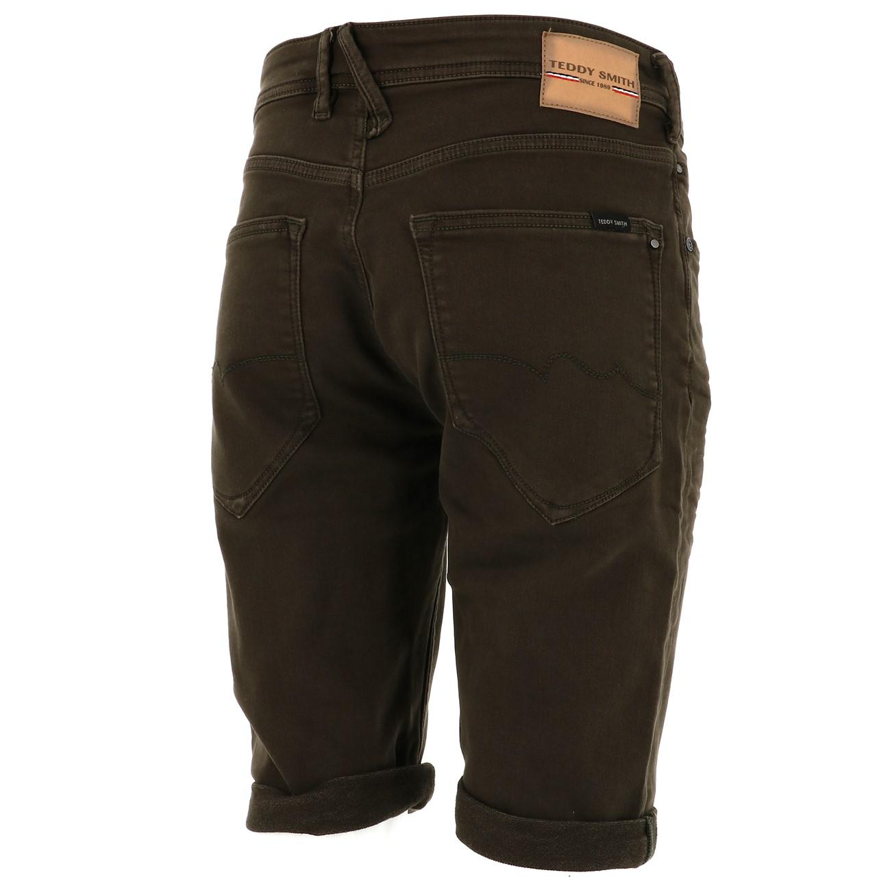 Bermuda-Shorts-Teddy-Smith-Scotty-3-Middl-Khaki-Shorts-Green-18133-New thumbnail 5