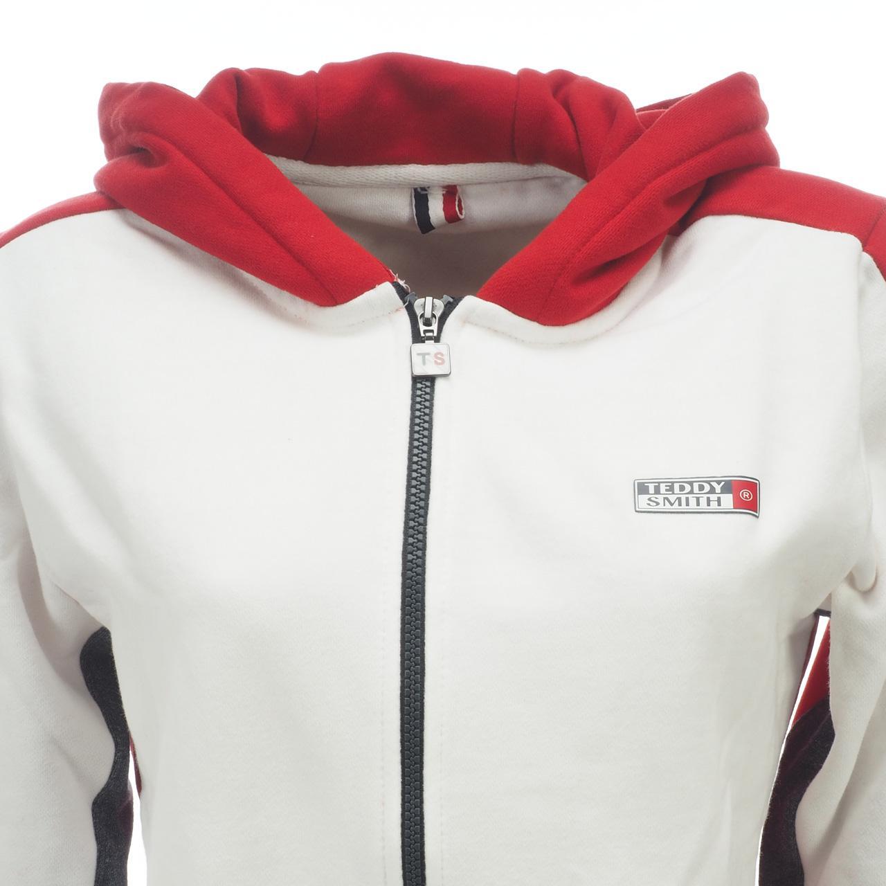 Jacken-Sweatshirts-Zipped-Kapuze-Teddy-Smith-Gafe-Blood-Fz-Umhang-Sw-Jr-Rot Indexbild 4