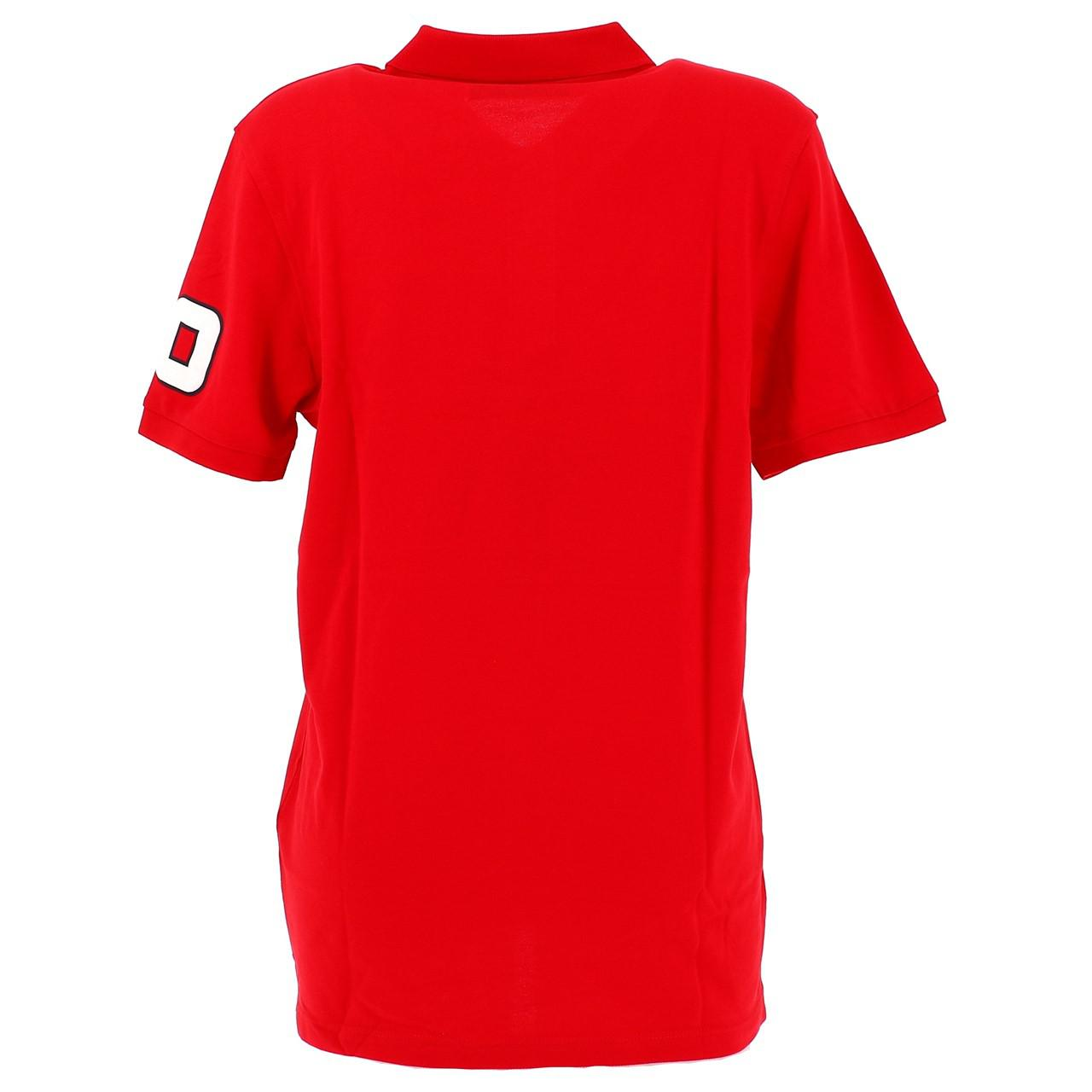 Short-Sleeve-Polo-Jack-and-Jones-Wiskit-Chinese-Red-Polo-Red-18528-New thumbnail 4