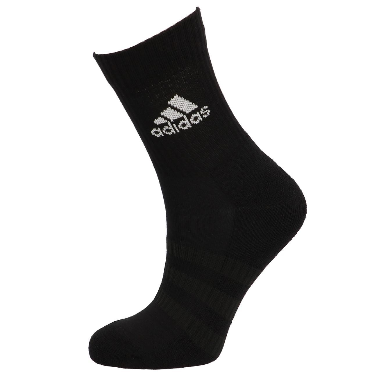 Socks-Adidas-3s-Perf-Crew-cho7-nr-3pp-Black-19055-New thumbnail 5