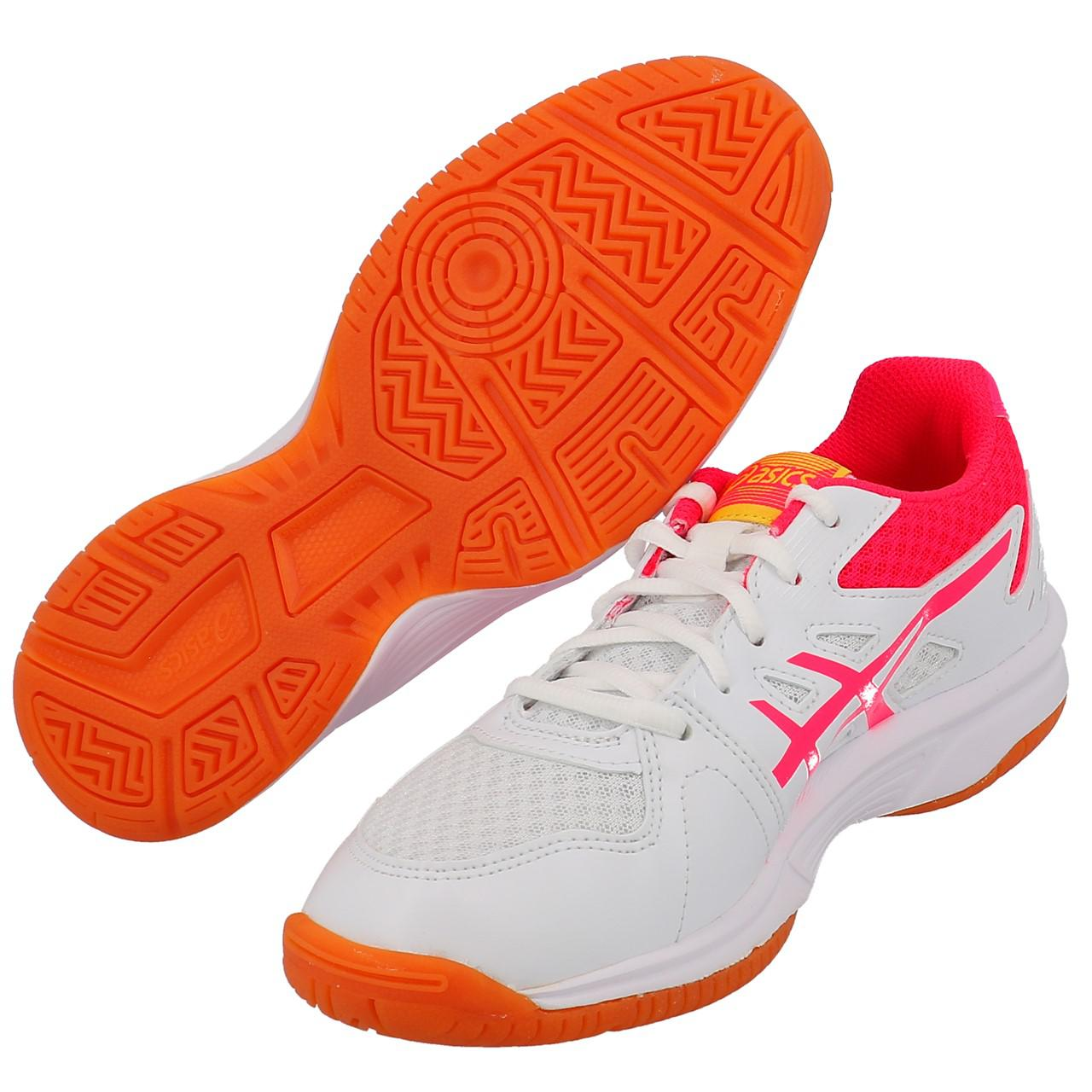 Shoes-Volleyball-Basketball-Asics-Upcourt-3-Wht-Indoor-G-White-19557-New thumbnail 5