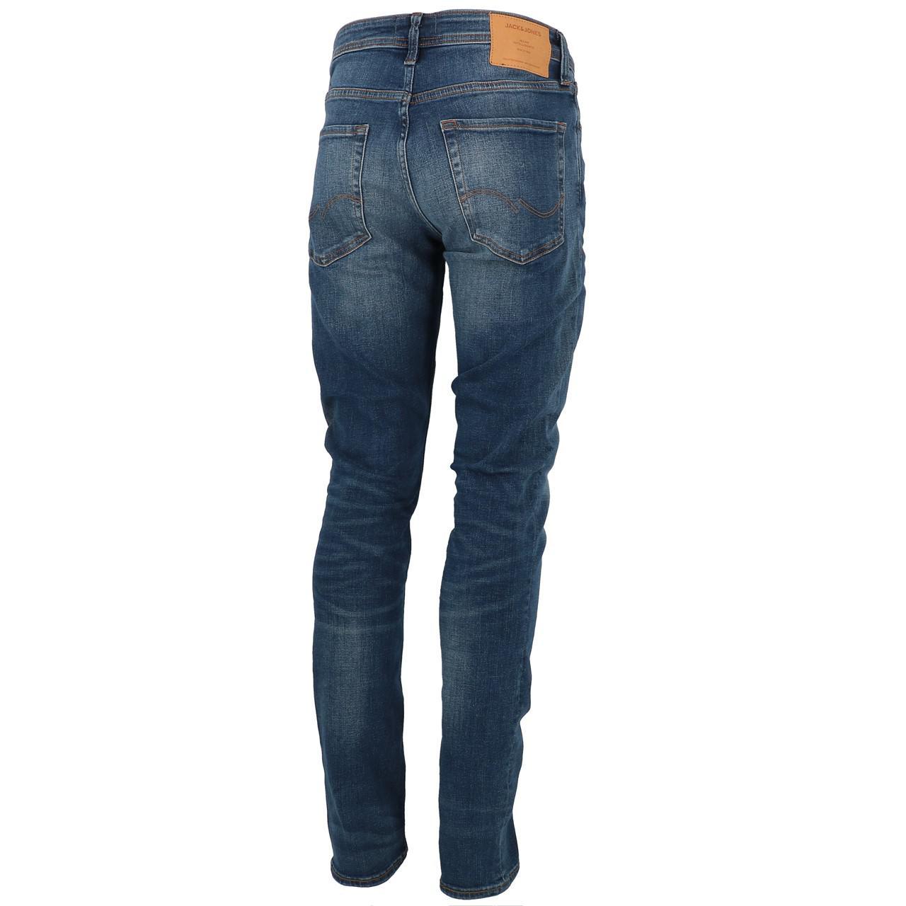 Jeans-Pants-Jack-and-jones-Tim-34-Blue-Denim-Blue-Jeans-19918-New thumbnail 5