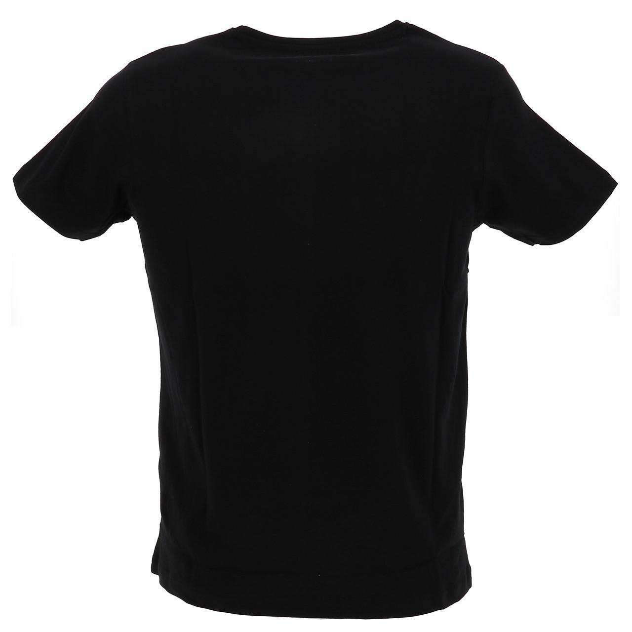 Short-Sleeve-T-Shirt-Paname-Brothers-Merico-Black-Mc-Tee-Black-26749-New thumbnail 5