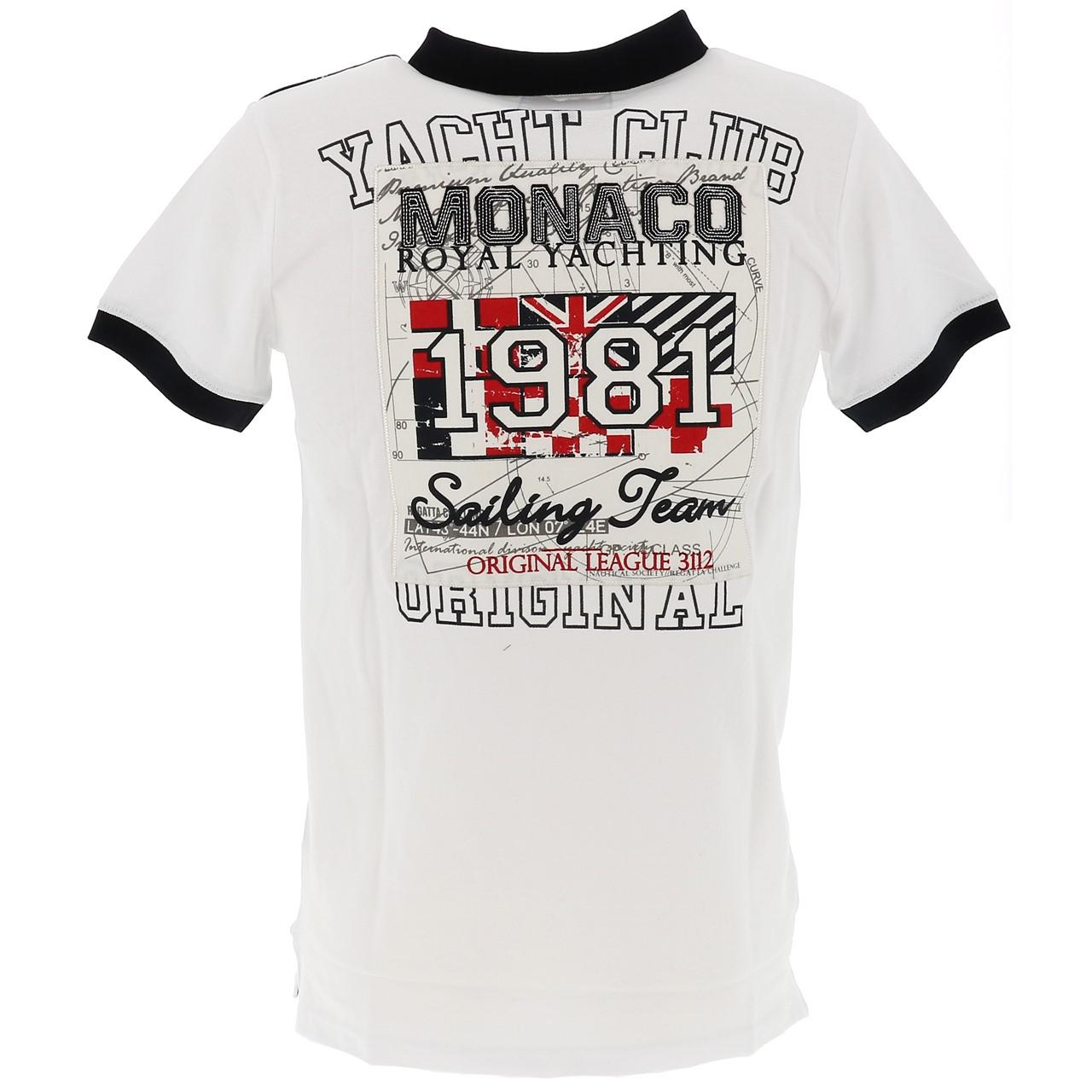 Short-Sleeve-Polo-Sails-of-monaco-Ponzo-White-Mc-Polo-White-27175-New thumbnail 5