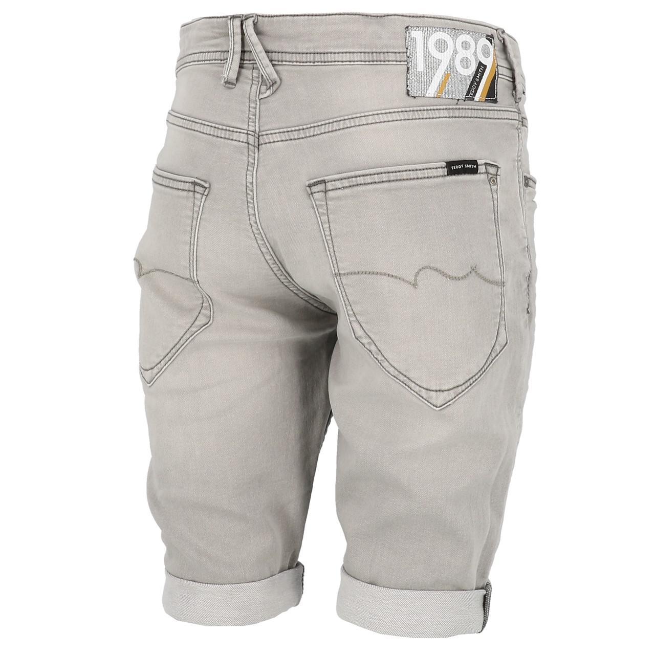 Bermuda-Shorts-Teddy-smith-Scotty-3-Grey-Shorts-Grey-29920-New thumbnail 5