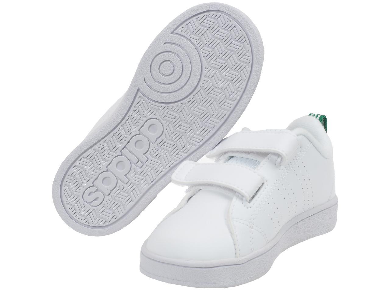 Chaussures-scratch-Adidas-neo-Advantage-baby-blc-vr-Blanc-33117-Neuf