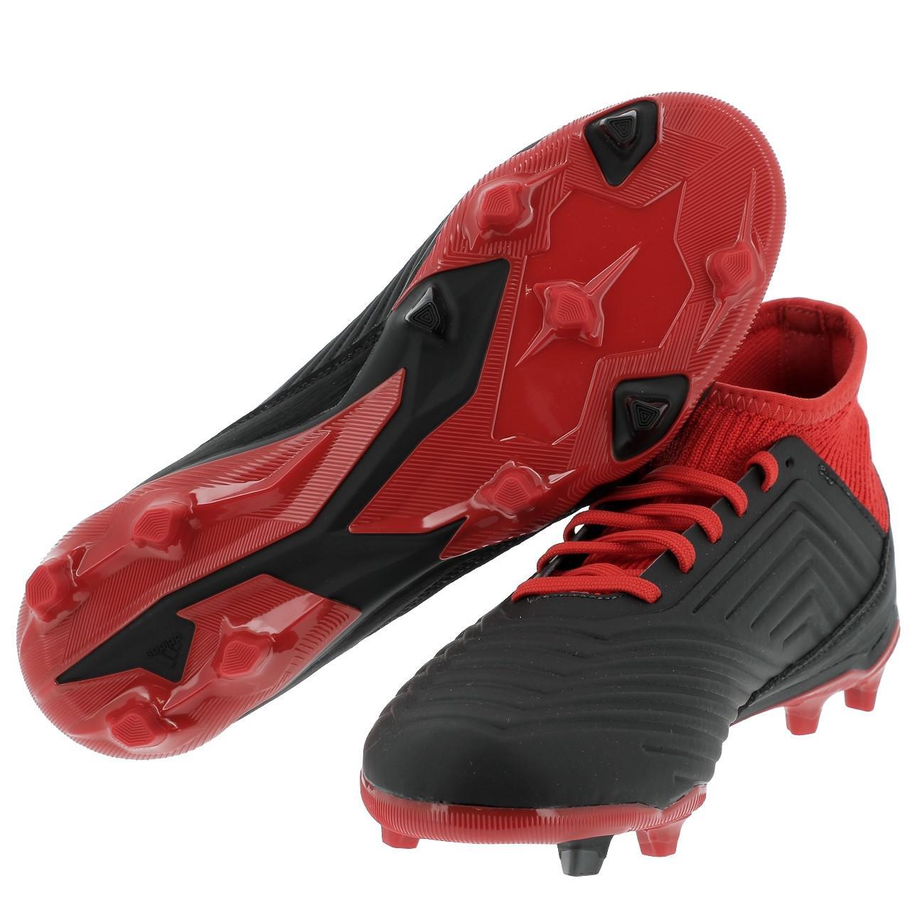 Football-Shoes-Flap-Adidas-Predator-18-3-Fg-Jr-Black-36196-New thumbnail 4