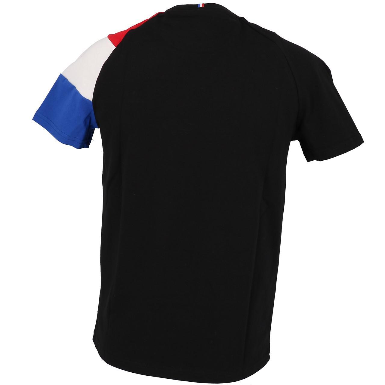 Short-Le-coq-sportif-Tricolor-Tee-H-Black-Black-40704-New thumbnail 5