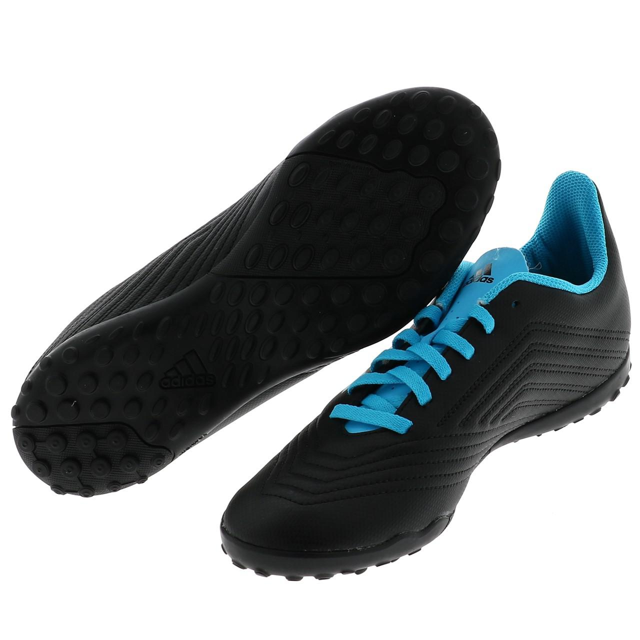 Football-Shoes-Stabilized-Adidas-Predator-19-4-Tf-Jmoule-Jr-Black-42177-N thumbnail 5