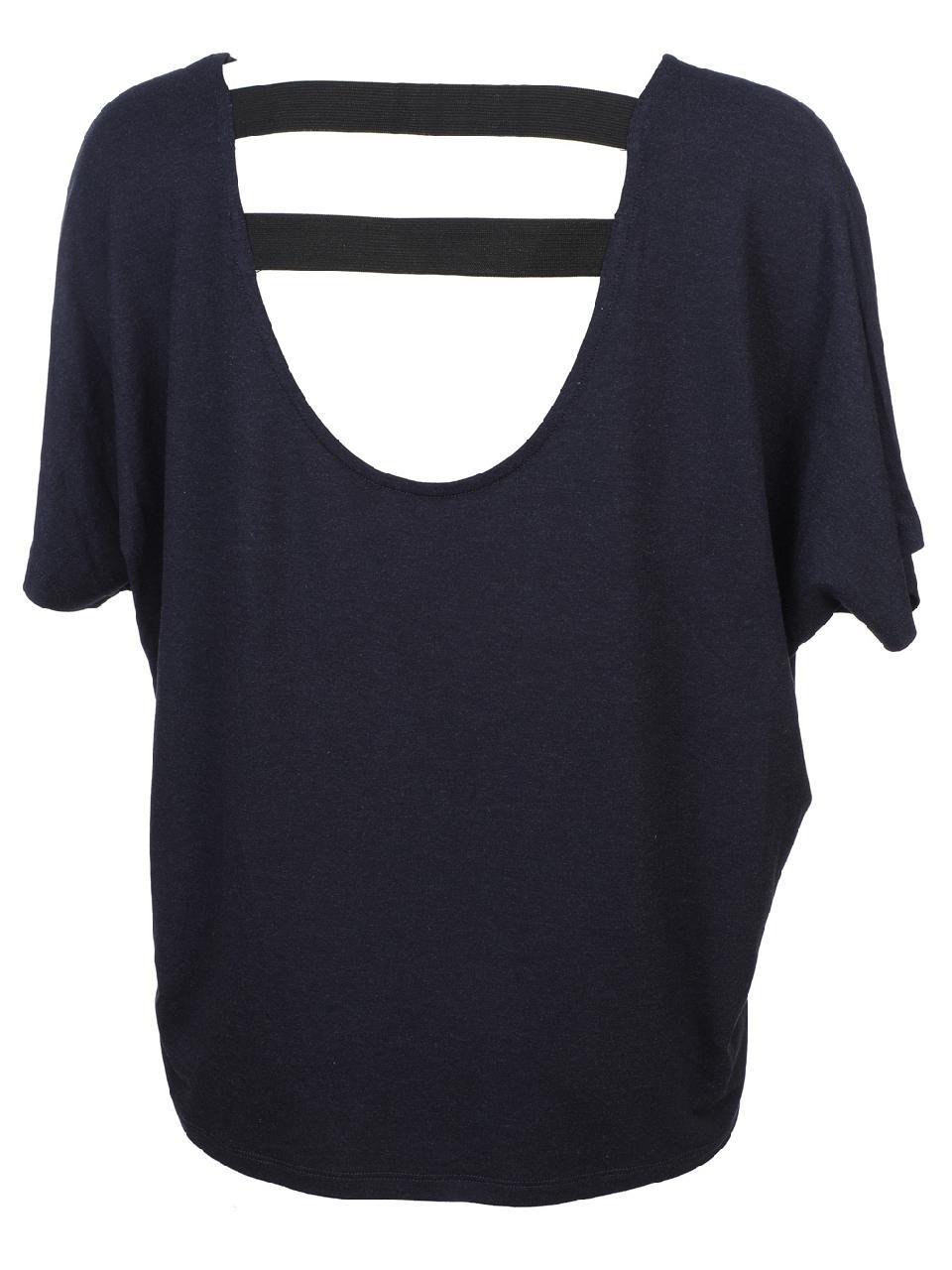 Tee-shirt-manches-courtes-Only-Moster-strap-nv-mc-tee-l-Bleu-43825-Neuf miniature 4