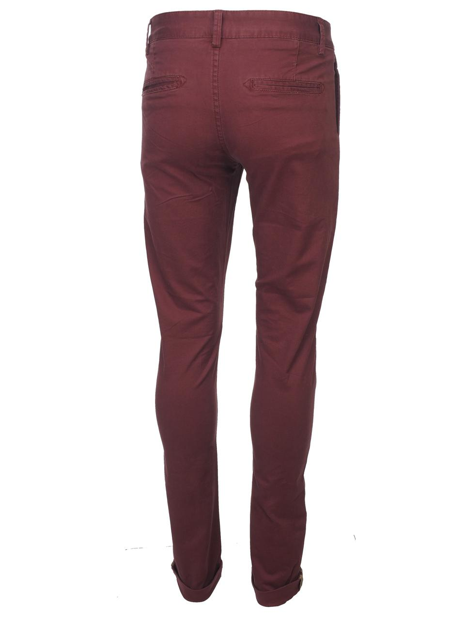 Pantalon-Crossby-Chino-bordeaux-pant-Rouge-44066-Neuf miniature 5