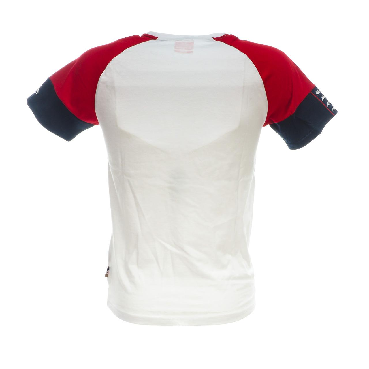 Short-Sleeve-T-Shirt-Kappa-Irmiou-Red-White-Navy-White-46521-New thumbnail 5