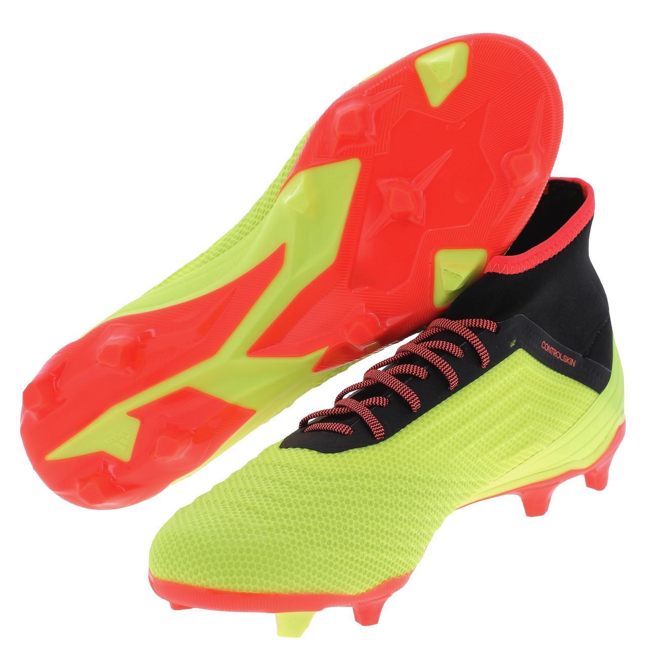 Détails sur Chaussures football lamelles Adidas Predator 18.2 fg jaune Jaune 47842 Neuf