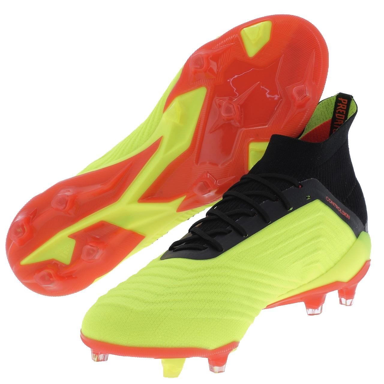 Football-Shoes-Flap-Adidas-Predator-18-1-Fg-Syello-Yellow-47849-New thumbnail 5