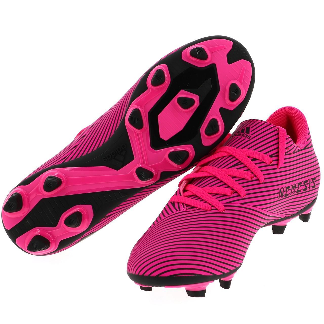 Football-Shoes-Flap-Adidas-Nemeziz-19-4-Fxg-Pink-48290-New thumbnail 5