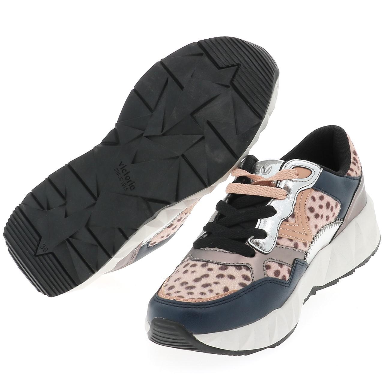 Détails sur Chaussures mode ville Victoria Arista animal print Bleu 50583 Neuf