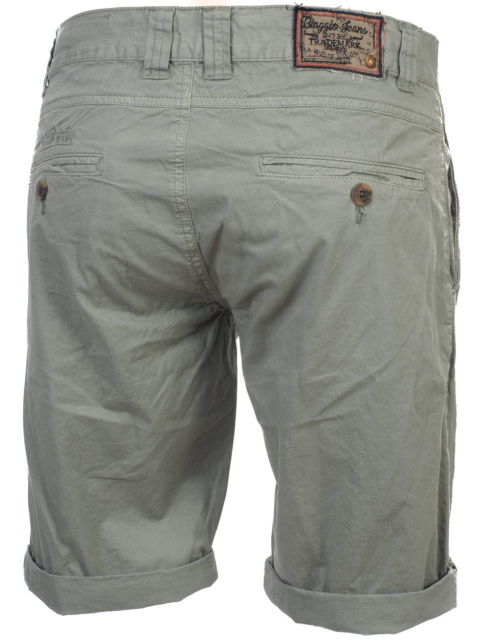 Three-Quarter-Pants-Bermuda-Biaggio-Famiros-Grey-Bermuda-Grey-50722-New thumbnail 5