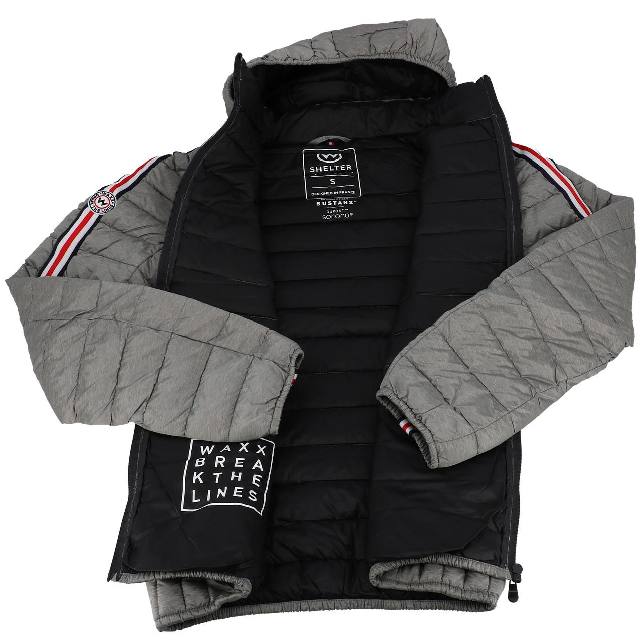 Synthetic-Jackets-Waxx-Shelter-Stripes-Metal-H-Grey-50764-New thumbnail 5