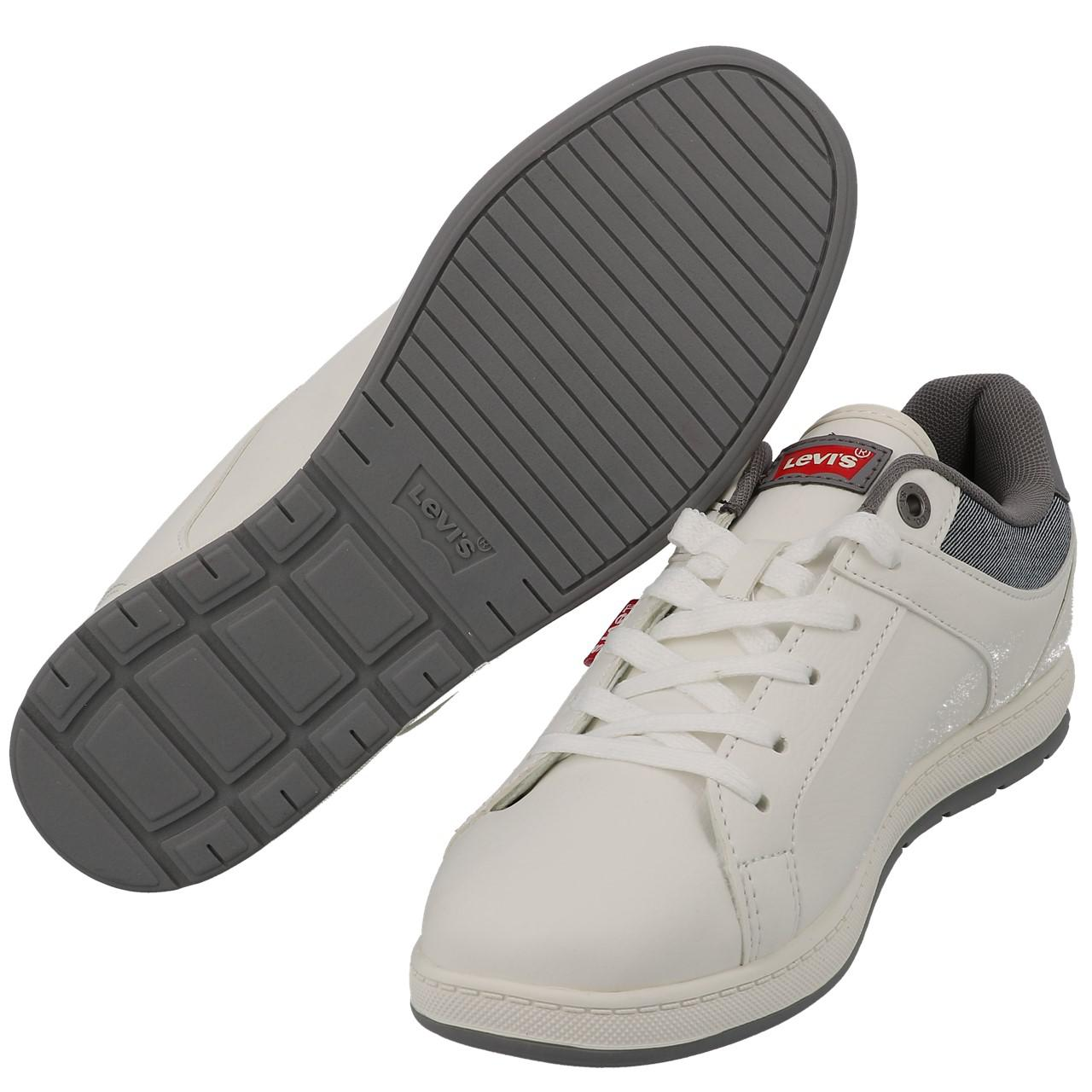 Chaussures-mode-ville-Levis-Declan-blanc-Blanc-53197-Neuf miniature 5