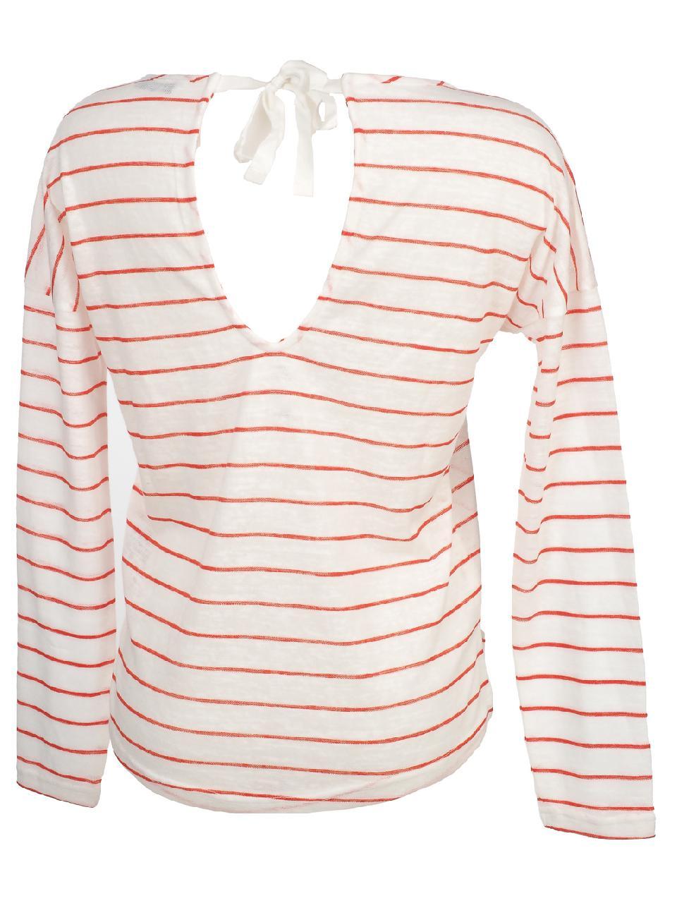 Tee-shirt-manches-longues-Only-Marina2-clouddancer-tee-l-Beige-54834-Neuf miniature 5