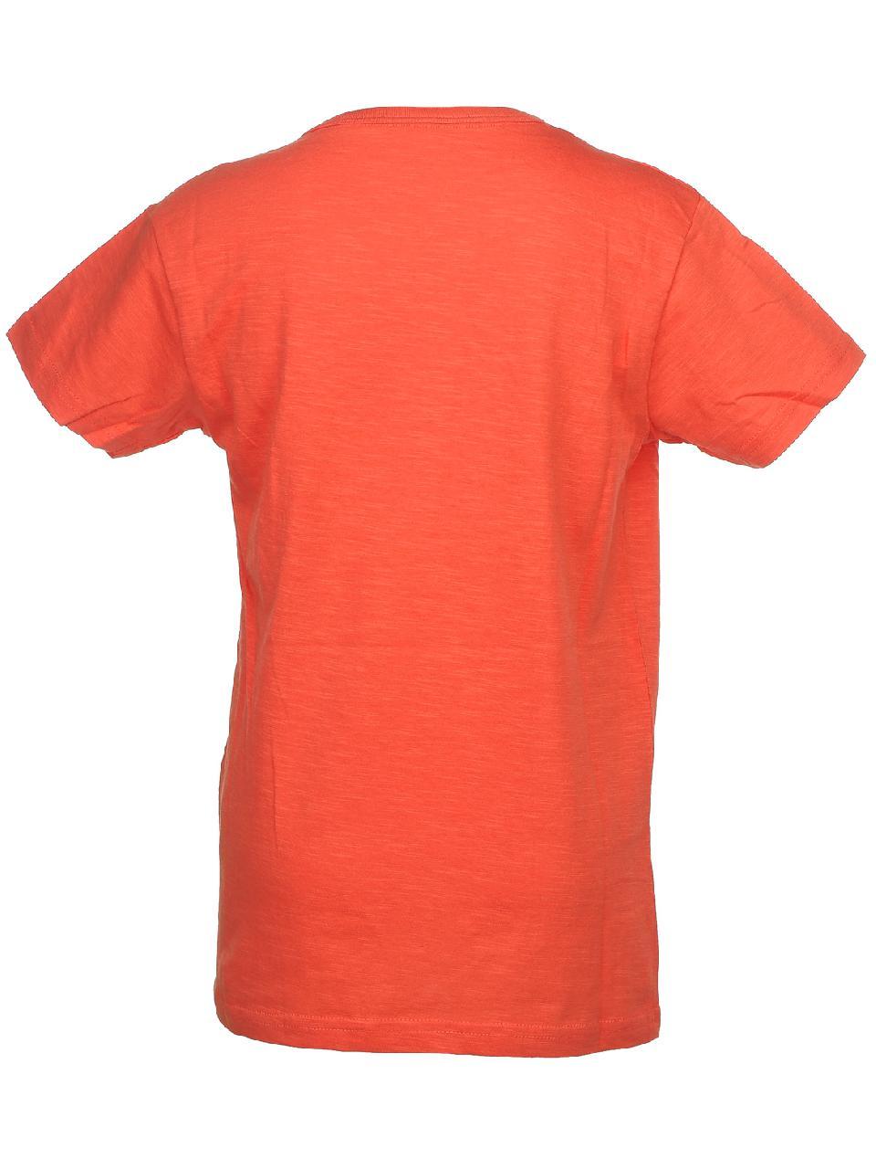 Tee-shirt-manches-courtes-Biaggio-Lorikel-corail-mc-tee-jr-Orange-58545-Neuf