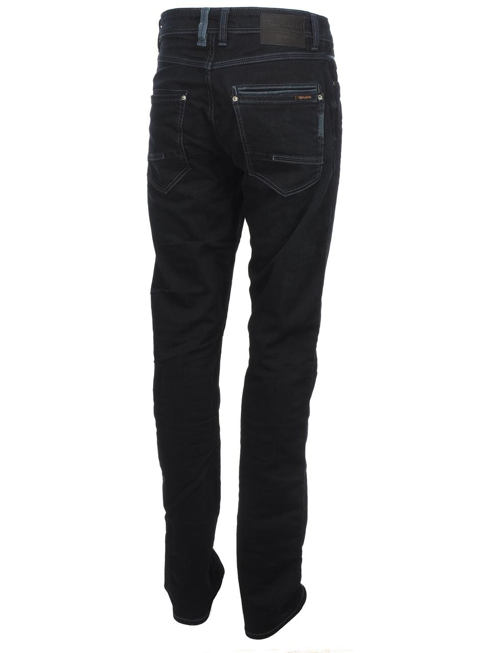 Trousers-Slim-Jeans-Teddy-smith-Rope-Reg-Comf-Usedoldencr-Blue-59500-New thumbnail 5