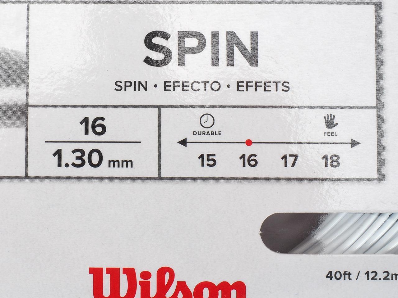 Seile-Tennis-Wilson-Revolve-16-Weiss-Unite-Weiss-70160-Neu Indexbild 4