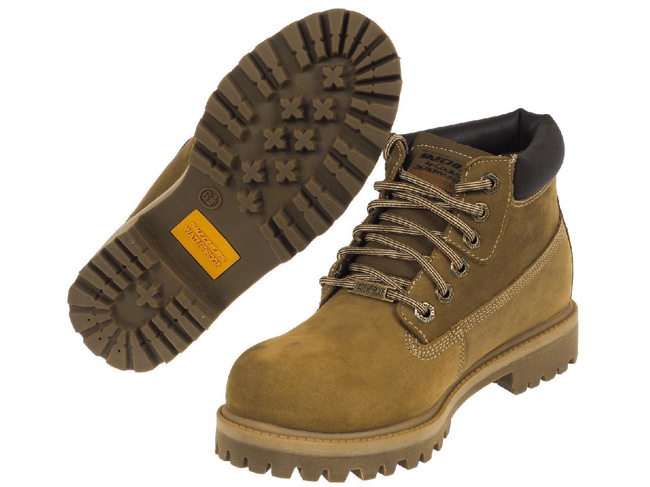 Chaussures-montantes-Skechers-Verdict-warerproof-Marron-75418-Neuf
