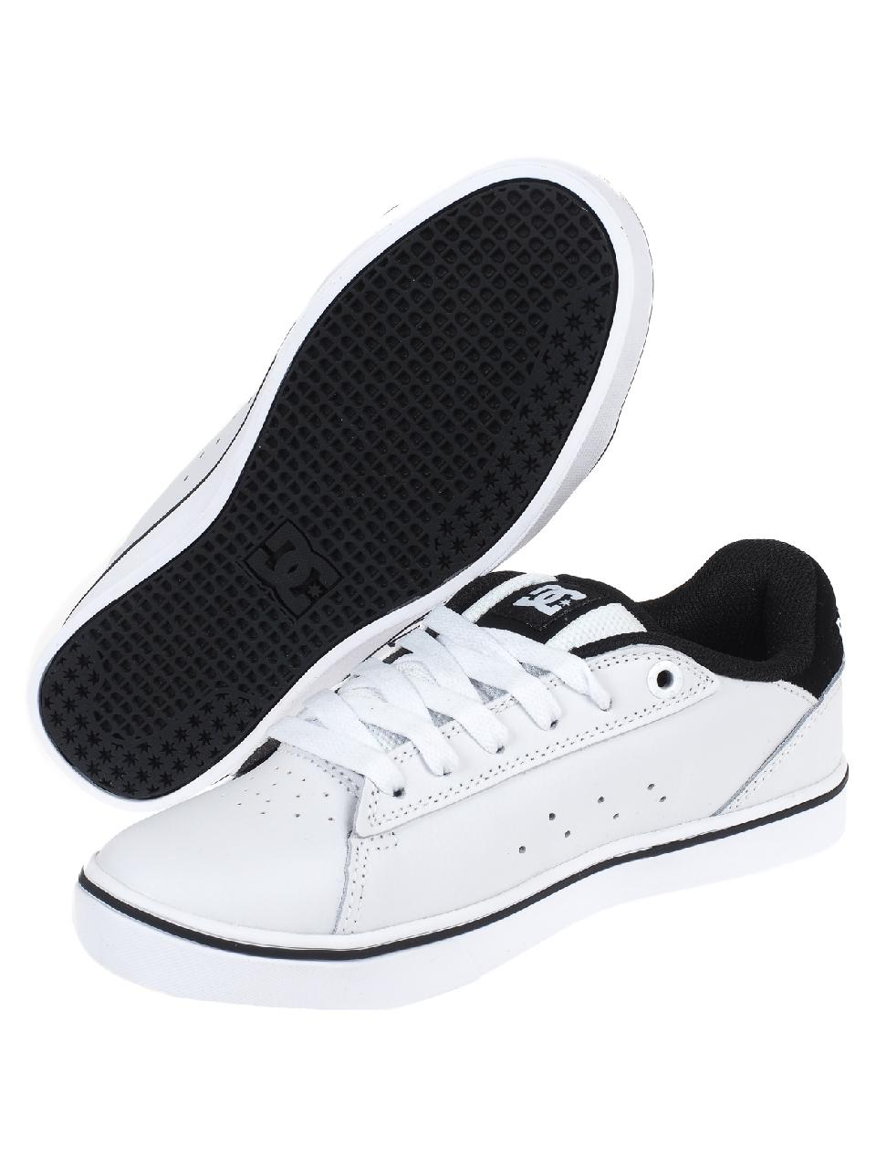 Chaussures-skateboard-Dc-shoes-Notch-jr-white-Blanc-78830-Neuf