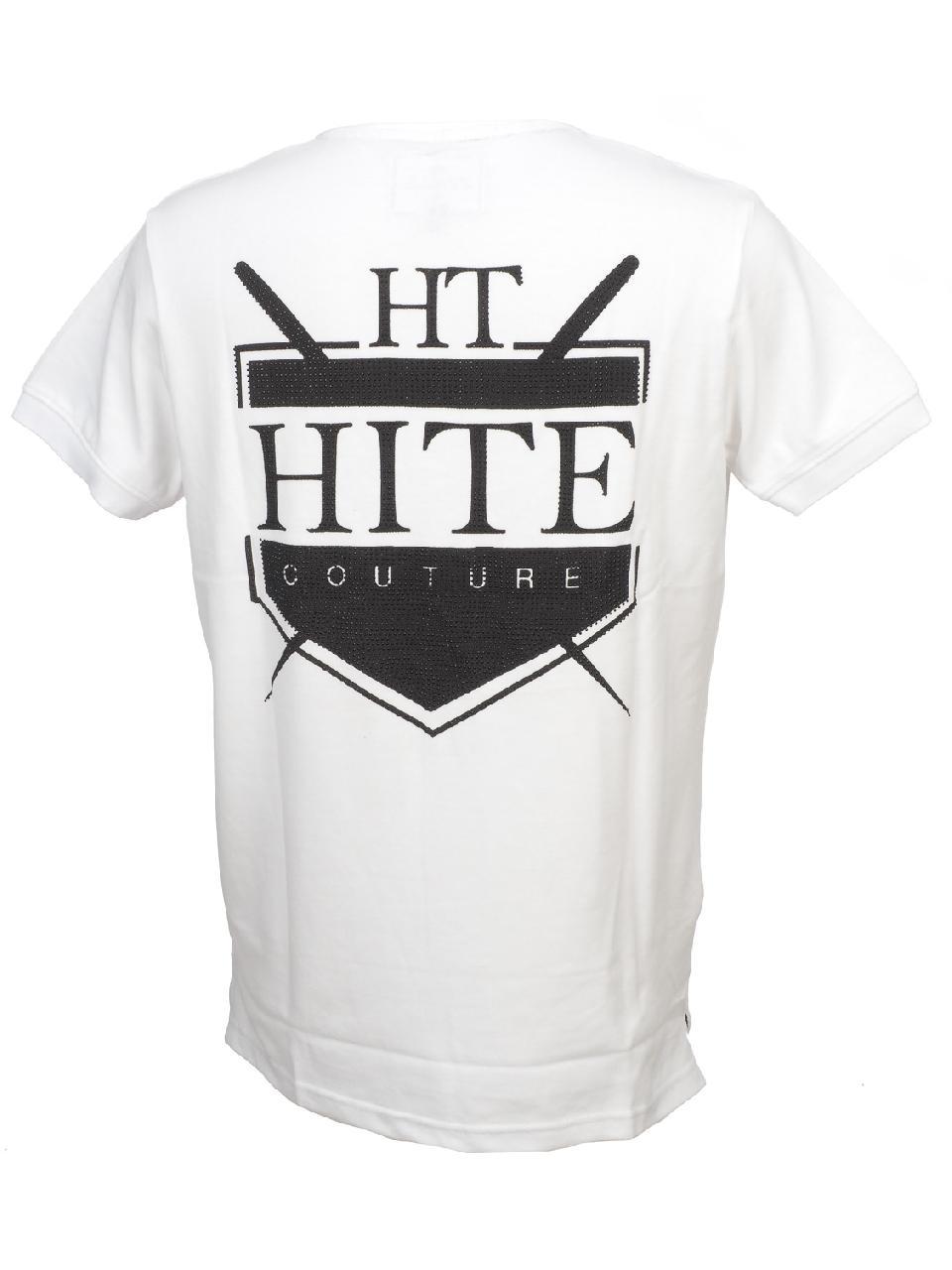 Short-Sleeve-Polo-Hite-Couture-Peltit-White-Mc-Polo-White-83128-New thumbnail 5